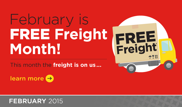 February Free Freight! Shop Now >>