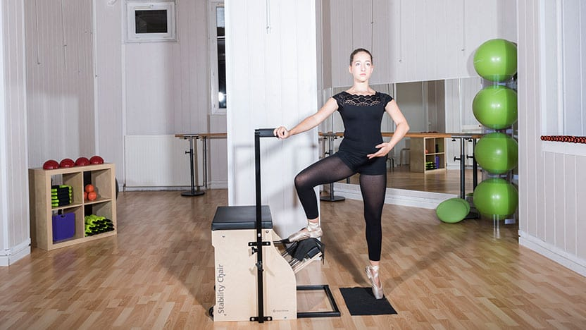 Ballet pose on Stability Chair