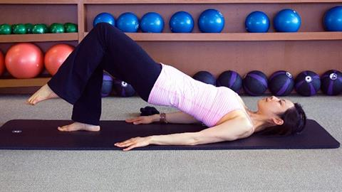 Matwork Shoulder Bridge Prep Exercise