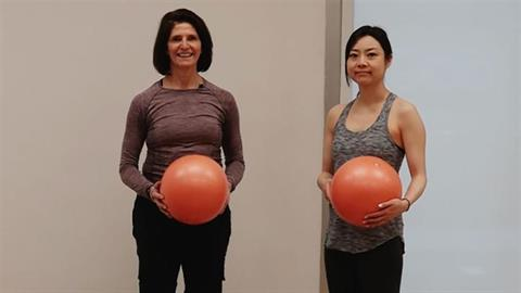 Exercise of the Month: Fascial Movement: Mini Stability Ball™