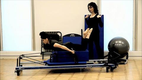 Traditional STOTT PILATES® Exercises to Start Your Home Practice: Arms Pulling Straps / Triceps–Long Box
