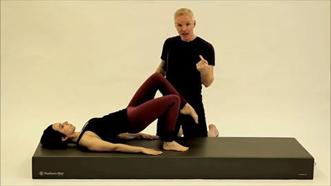 STOTT PILATES® for Triathletes: Bike Training: Shoulder Bridge