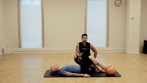 STOTT PILATES® Rehab: Knee Injuries: Footpress on Stability Ball™