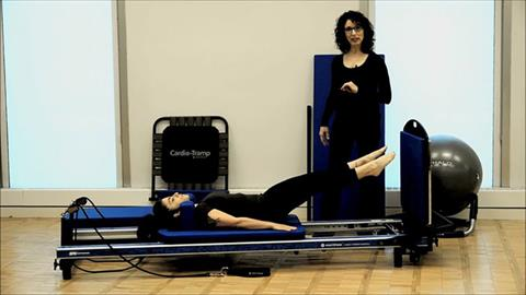 Modified STOTT PILATES® Exercises for your Home Workout: Small Jumps Knees Bent, Knees Straight
