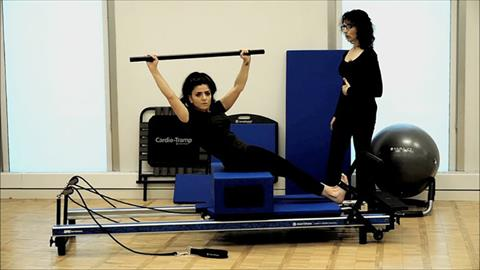 Modified STOTT PILATES® Exercises for your Home Workout: Twist with Round Back Prep Short Box