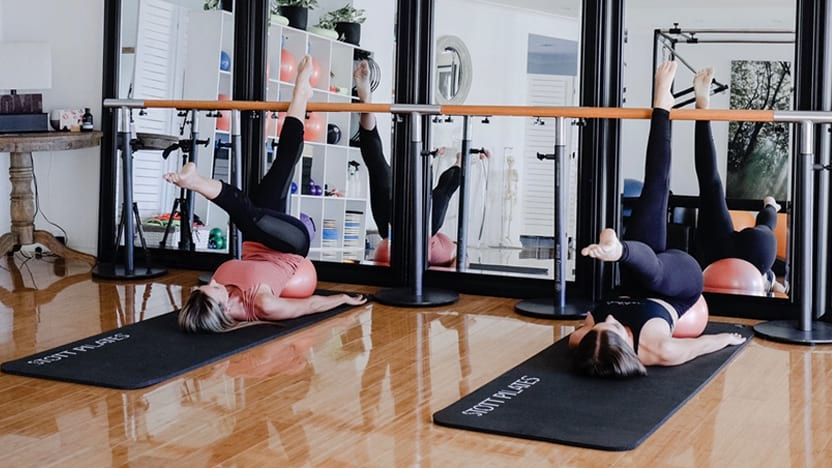 At Home Barre class with client