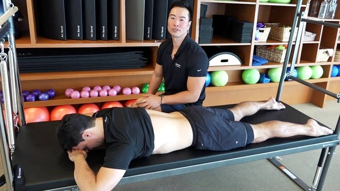STOTT PILATES Rehab: Mid-back series in Prone