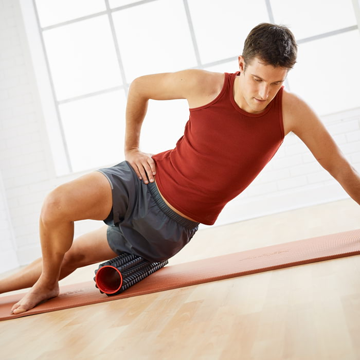 Hip Abductor release with Massage Point Foam Roller