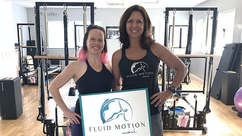 Monique Jutila and Kelly Dormady Fluid Motion Maui