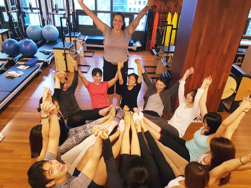 Daniela with Pilates training students