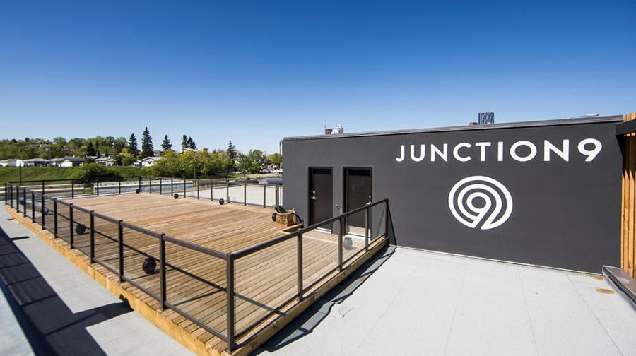 Junction9's open-sky workout area