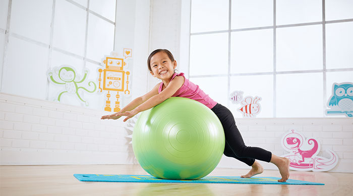 Kid fitness on Stability Ball