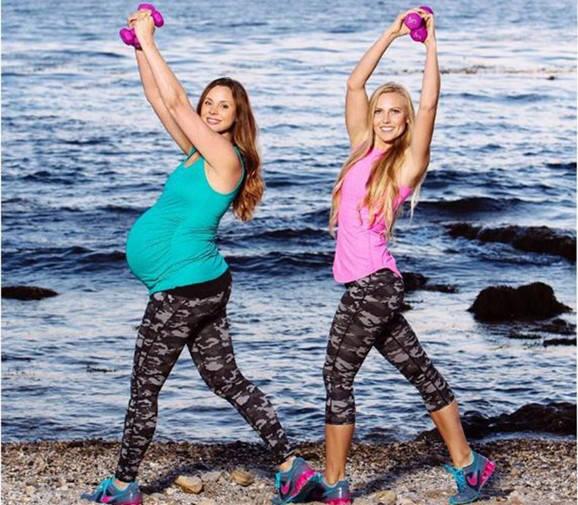Knocked Up Fitness Prenatal Pilates Outside