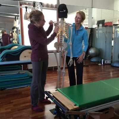 Pilates skeleton exercise