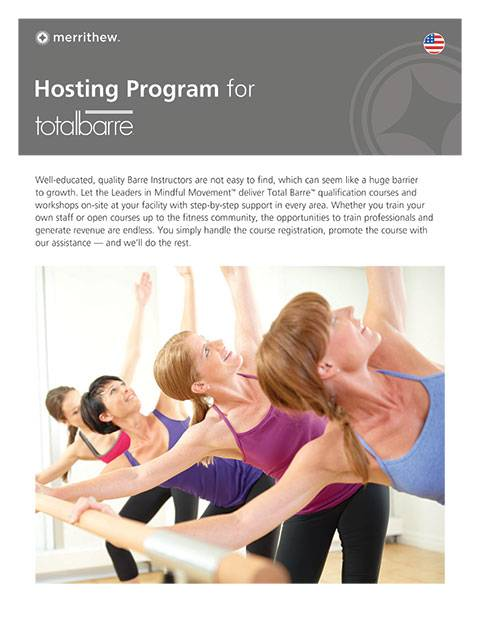 Hosting Program for Total Barre