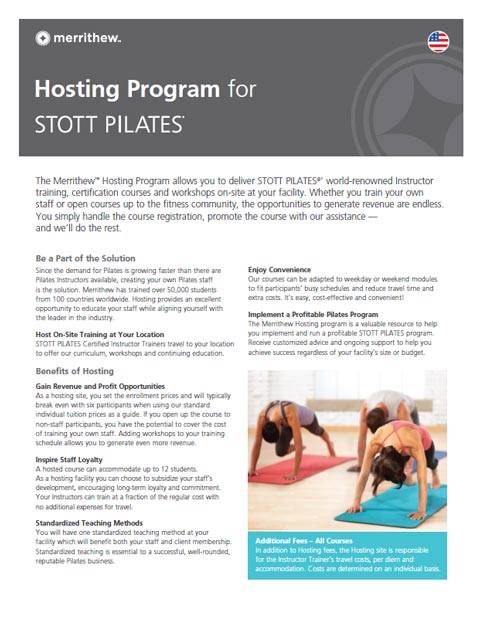 STOTT PILATES Hosting Program Brochure