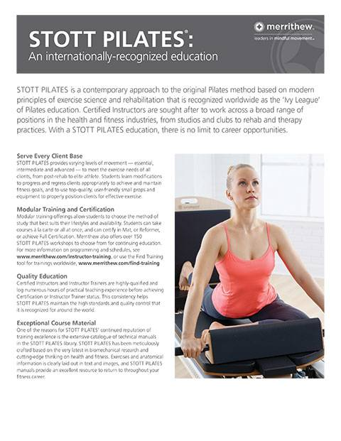 Why Choose STOTT PILATES