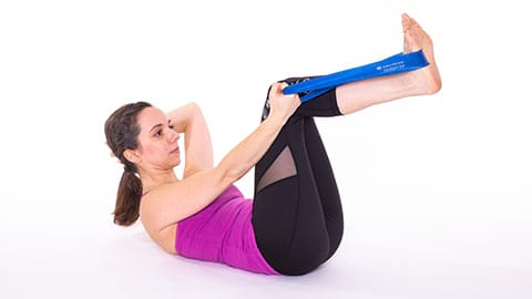 Single Leg Stretch image A