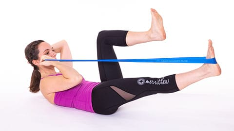 Single Leg Stretch image B