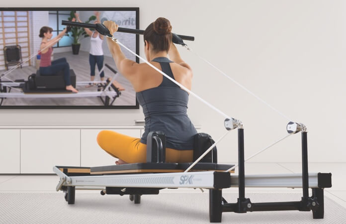 Streaming platform for professional Pilates Reformer video workouts