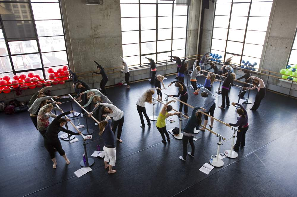 Total Barre Class at the Baryshnikov Arts Center in New York City