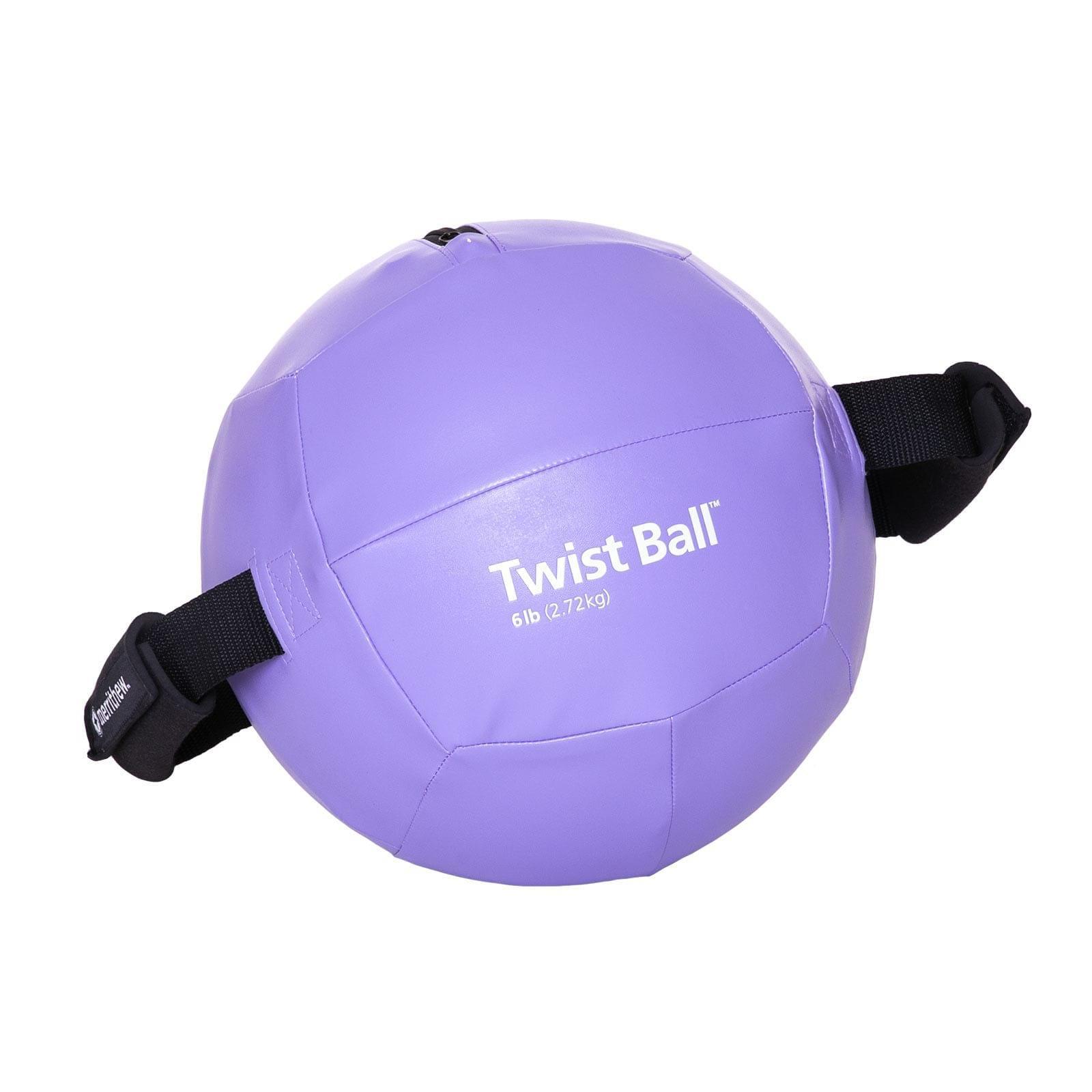 Twist Ball With Pump 6 Lb Purple Merrithew