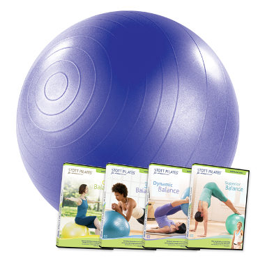 Stability Ball 75cm & Stability Ball Series: 4 DVDs