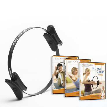Fitness Circle® Pro & 3-DVD Set - 12 inch (Black)