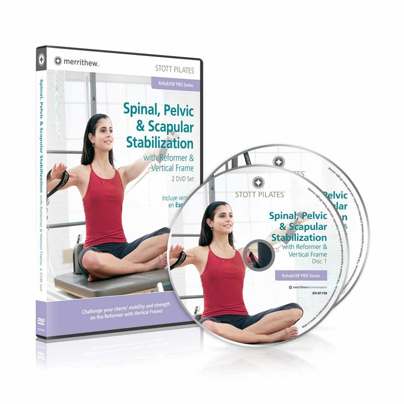 DVD - Spinal, Pelvic & Scapular Stabilization on Reformer & Vertical Frame 2 DVD set