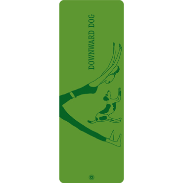 Pilates & Yoga Mat Downward Dog (green)