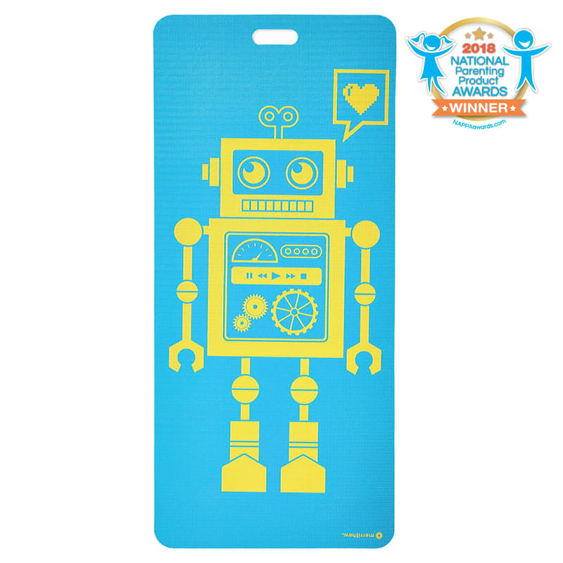 Eco Mat for Kids - Pixel the Robot (Aqua)