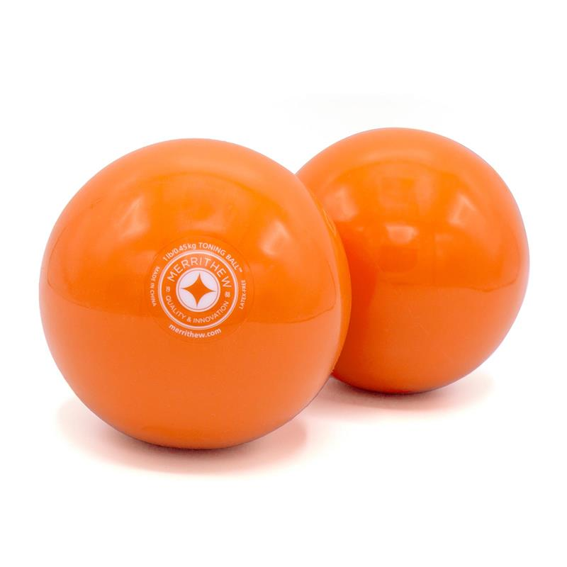 Toning Ball™ Two-Pack - 1 lb (Orange)