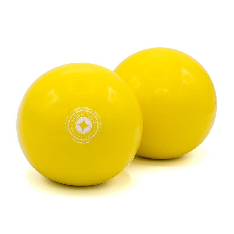 Toning Ball Two-Pack - 2 lbs (lemon)