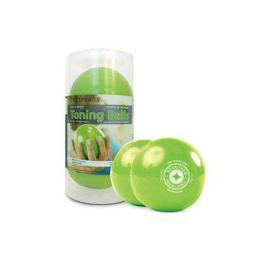 Toning Ball Two-Pack - 3 lbs (lime)