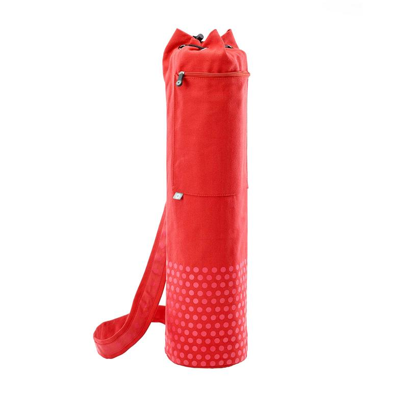 Pilates & Yoga Canvas Mat Bag (Red)