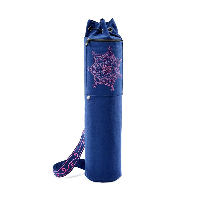Pilates & Yoga Canvas Mat Bag (Blue)