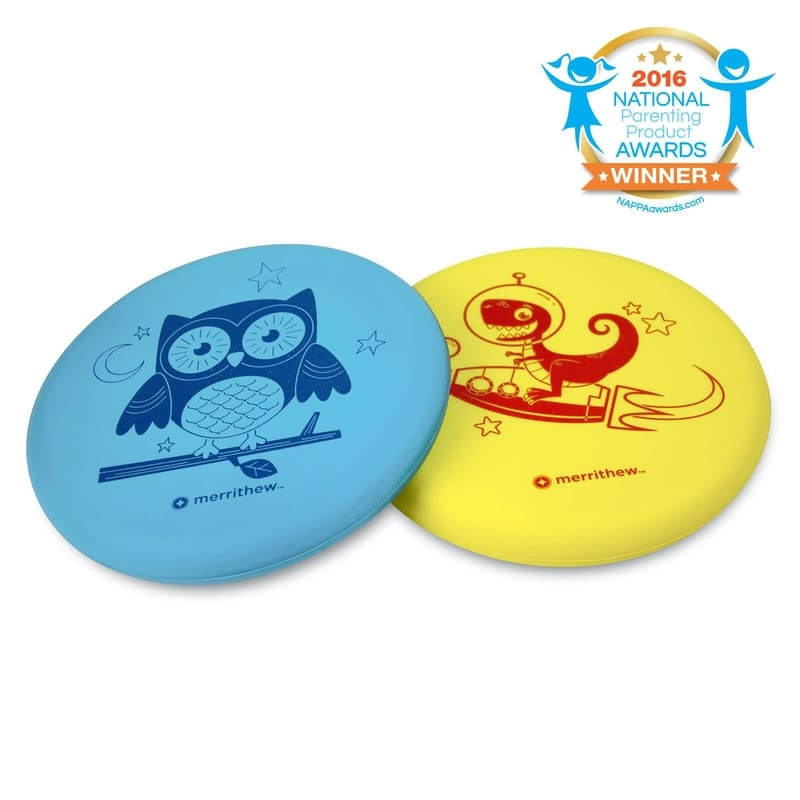 Flying Foam Disks for Kids - 2 Pack (Blue & Yellow)