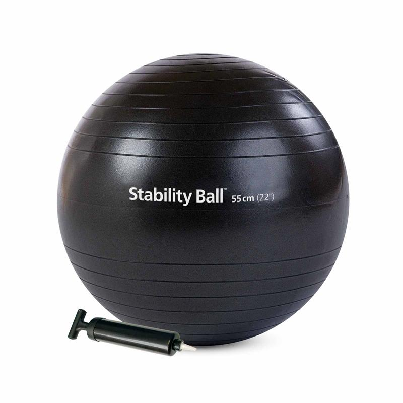 Stability Ball™ with Pump - 55 cm (Black)