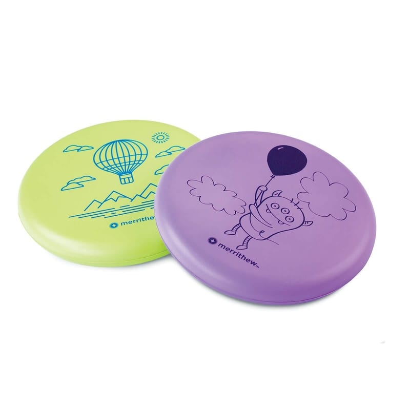 Flying Foam Disks for Kids - 2 Pack (Purple & Green)