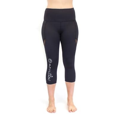 Signature Crop Legging with pockets (black) - S