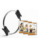 Fitness Circle® Pro & 3-DVD Set - 14 inch (Black)