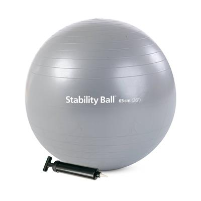 Stability Ball™ with pump - 65cm (silver)