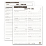 Client Workout Sheets - Essential Matwork